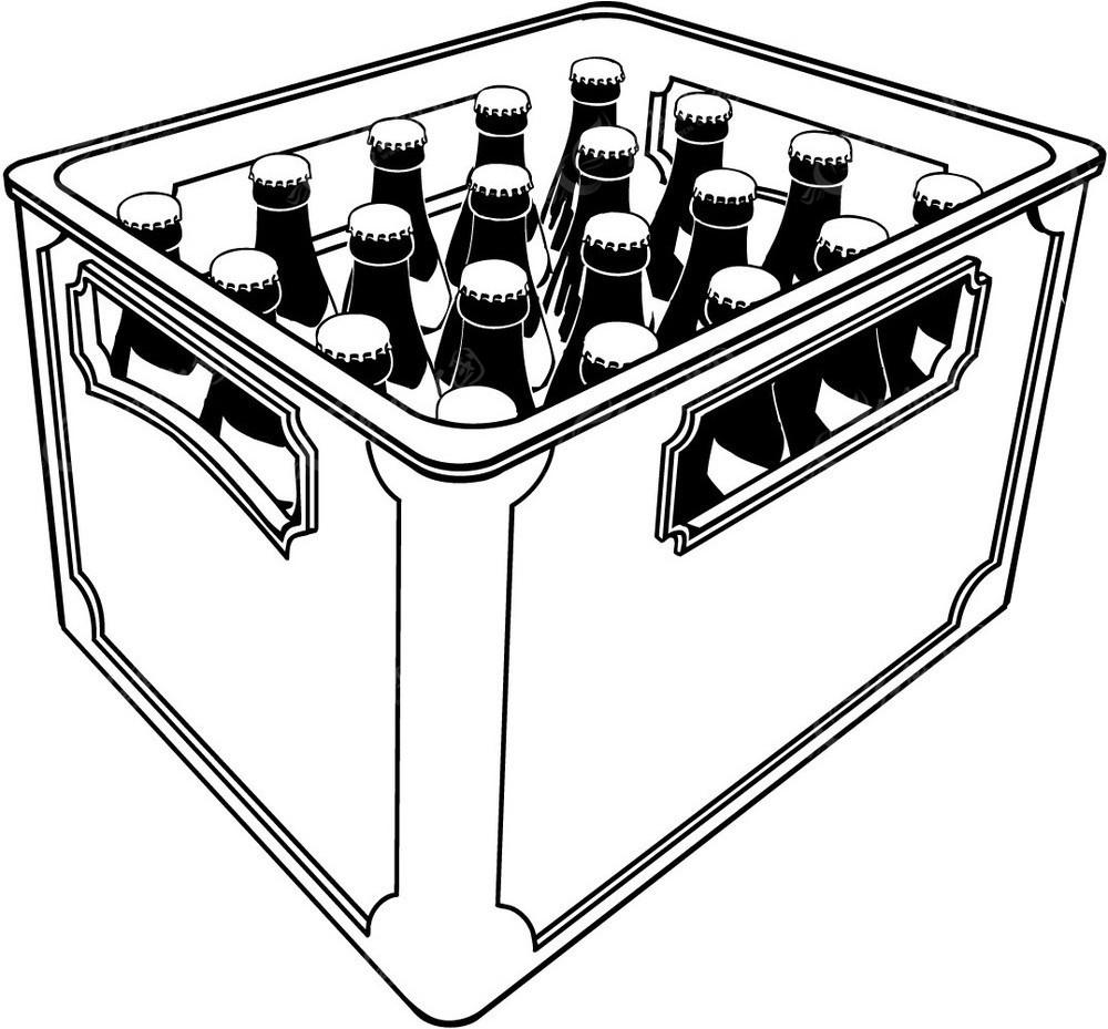 一筐啤酒手绘图形
