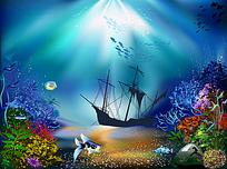 海底沉船插图
