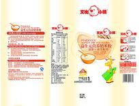 营养奶米粉包装袋平面图