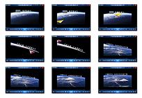 卡通纸飞机地球视频