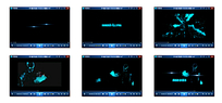 蓝色放射光效文字视频