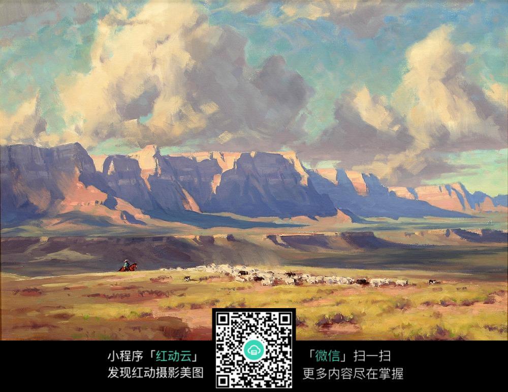 自然风景油画图片图片