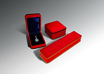 红色珠宝首饰盒效果图