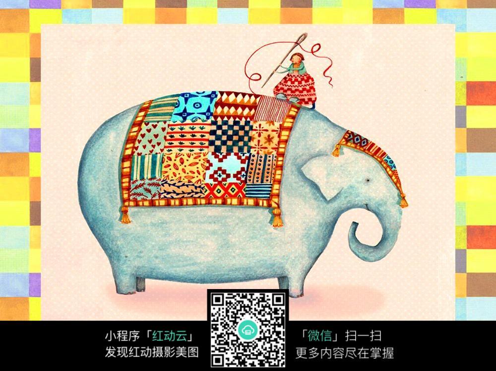 喜庆彩色大象油画素材图片免费下载 编号4458576 红动网