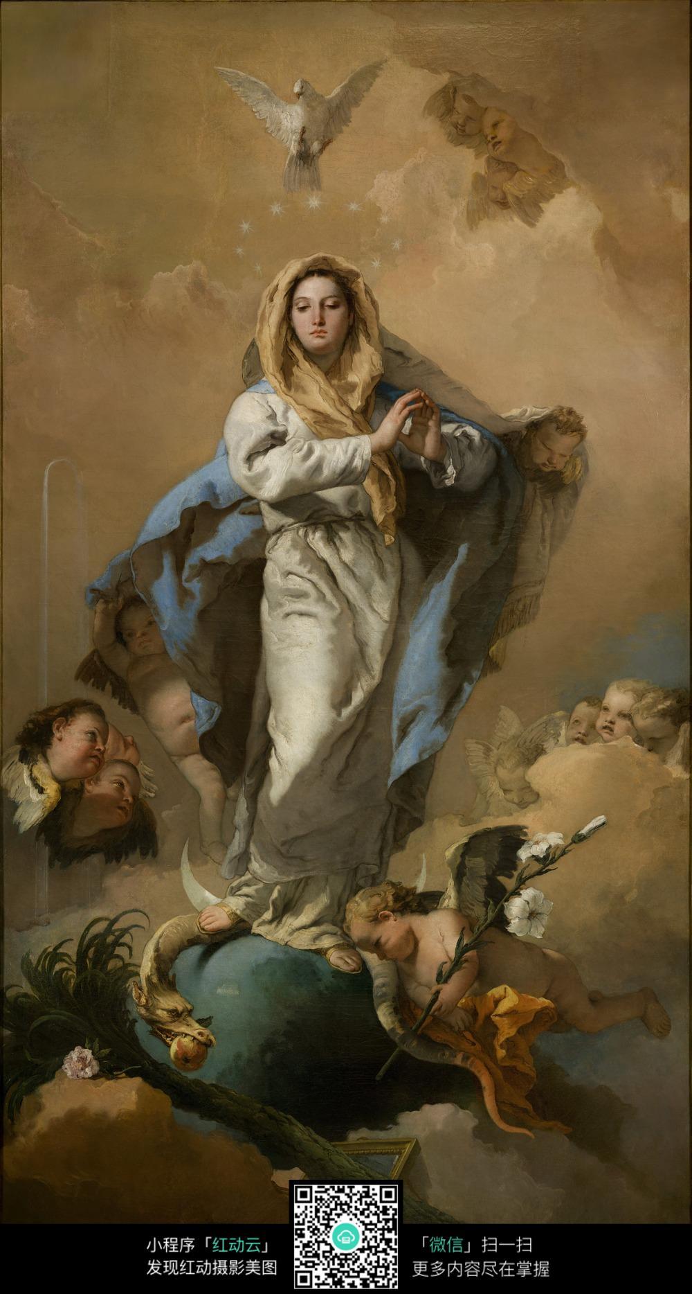 古典欧式神话人物油画