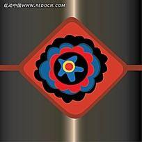红色菱形花纹