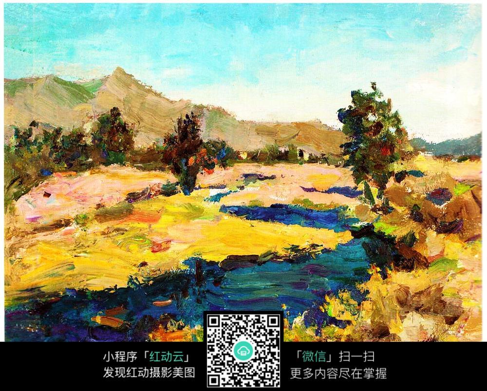 山水风景油画
