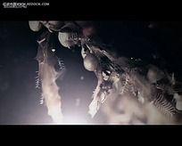 圣诞装饰光效视频
