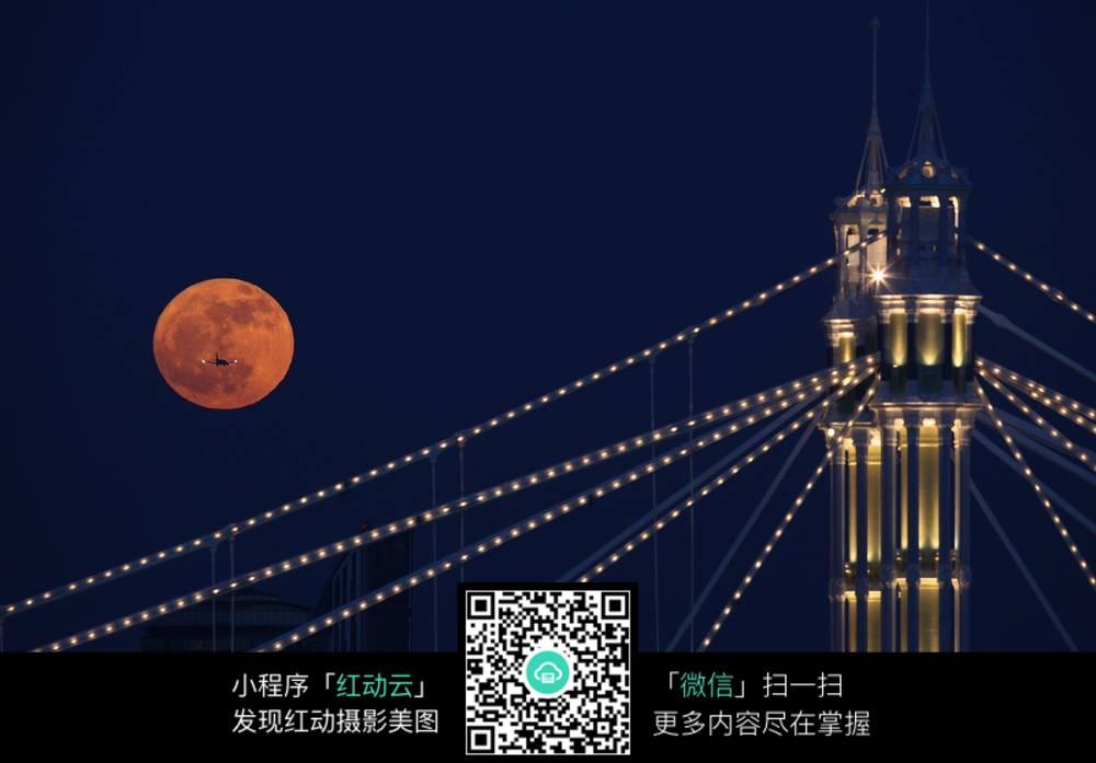 灯塔夜景图图片