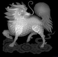 麒麟雕刻图
