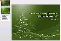 绿色圣诞节PPT背景模板