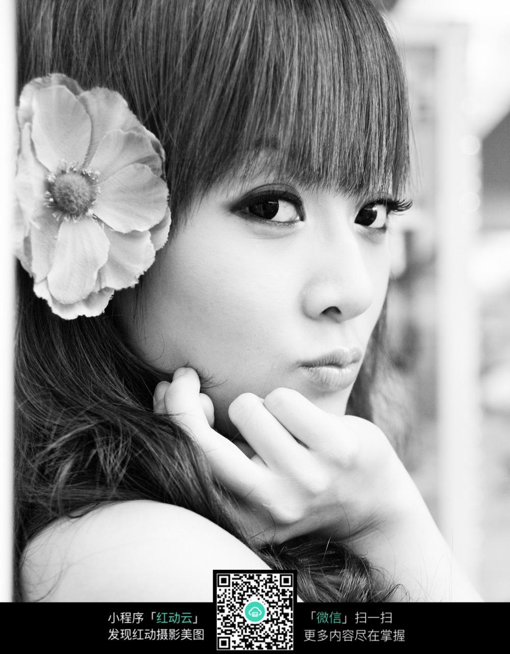 黑白美女 美女图片 美女写真 模特 模特写真 养眼美女  人物素材 摄影