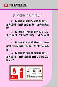 枣阳市妇幼保健院消防知识宣传海报