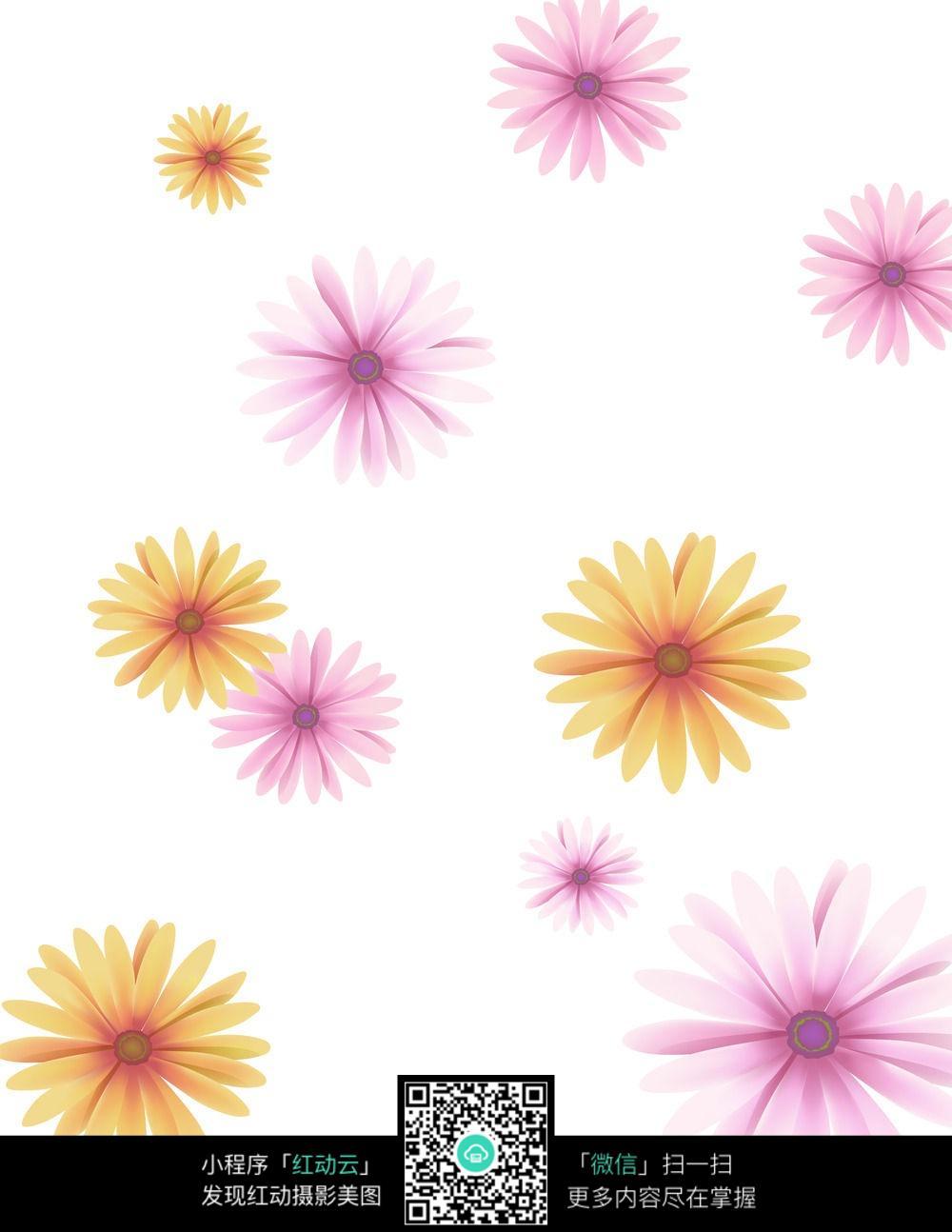 花卡通画向日葵