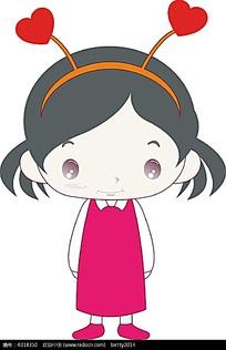 粉色衣服的小女孩