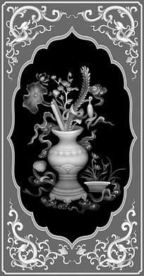 中式风格花朵大全图片黑白画编号(下载:47660创意大全logov风格浮雕标志图片高清花瓶图片