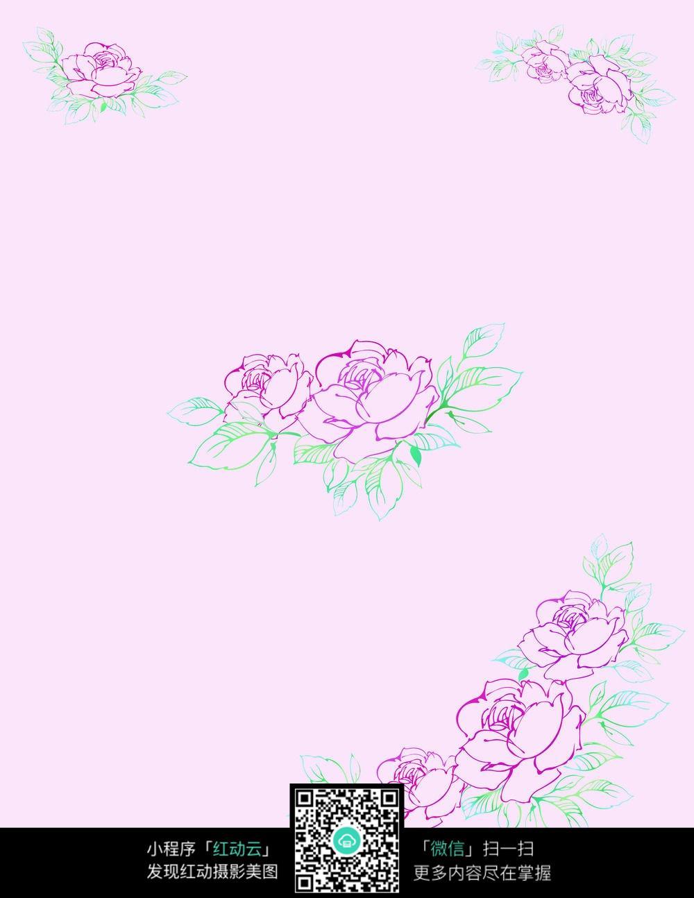 简单花卉背景