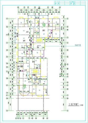 九龙园多层住宅楼平面布置图