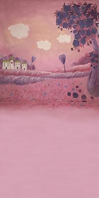 英国城堡住宅手绘图图片