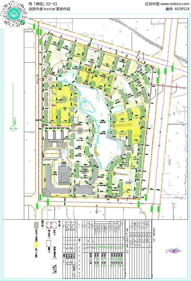 住宅小区规划总cda平面图
