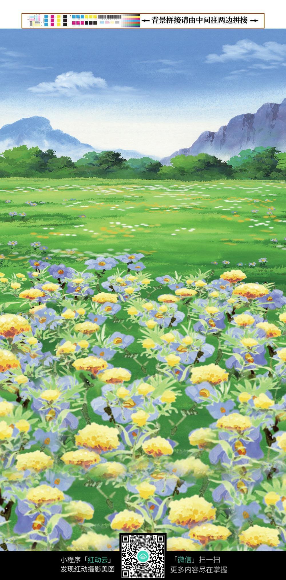 免费素材 图片素材 背景花边 其他 卡通森林图