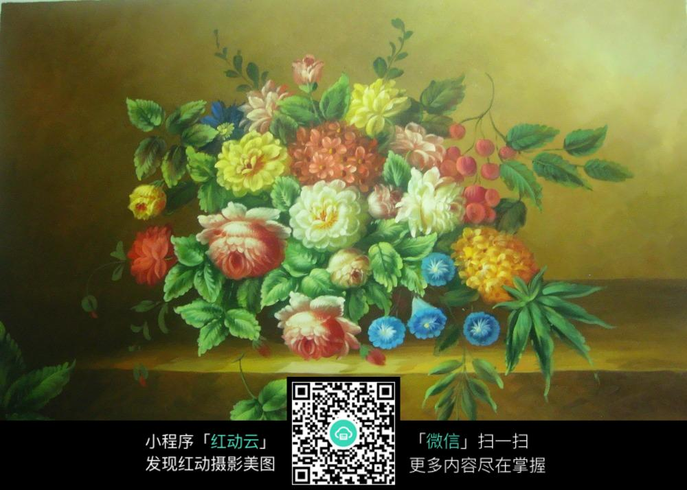 写实油画花卉