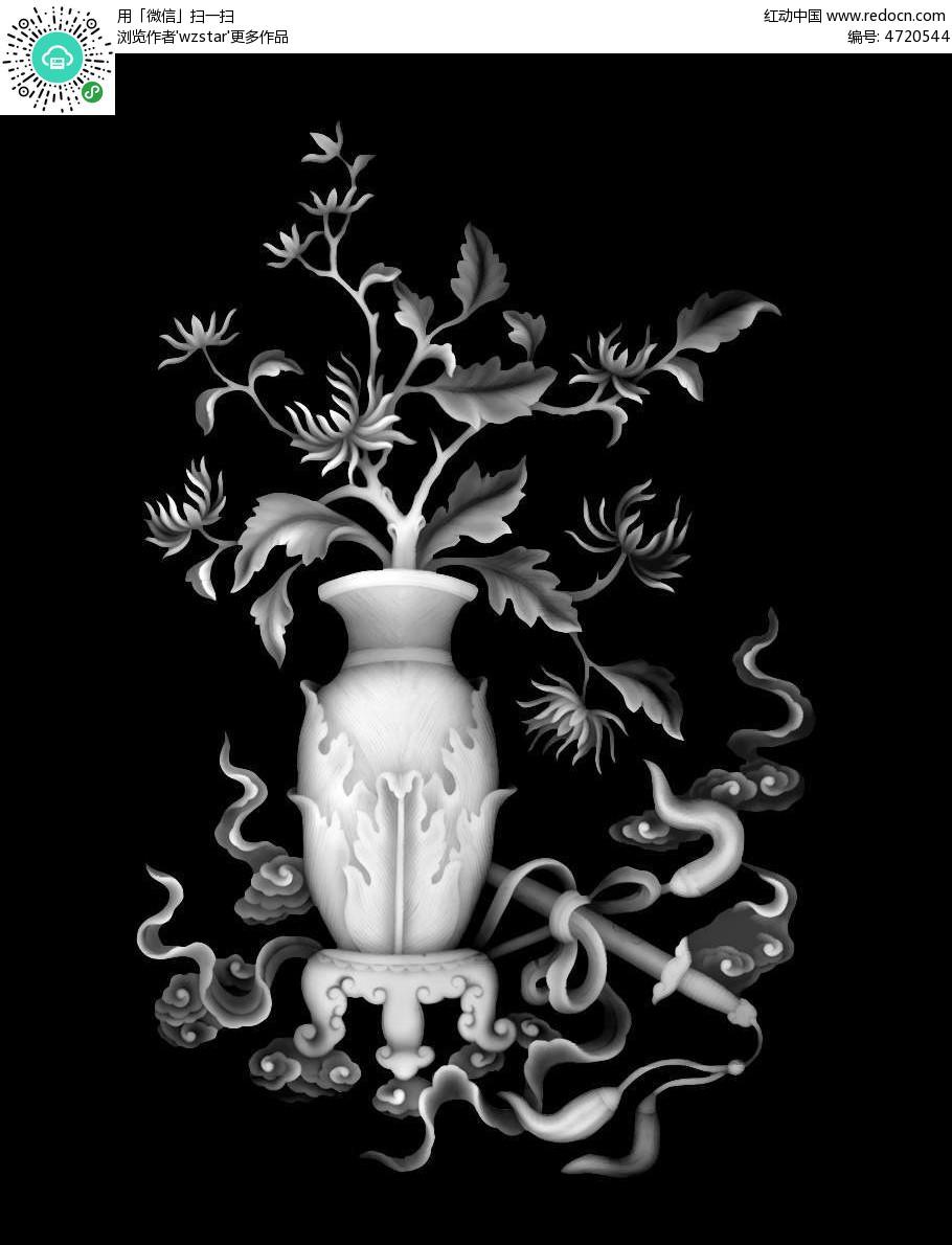 中国风花瓶花架精雕画其他素材免费下载 编号4720544 红动网