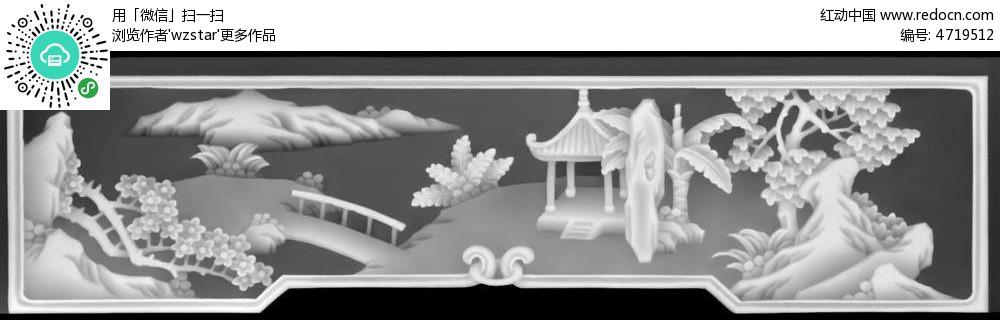 浮雕 浮雕灰度图 浮雕图模板 雕花 灰度图 黑白 精雕图 中式风格