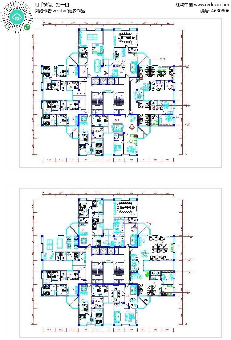 豪景小区住宅设计图纸