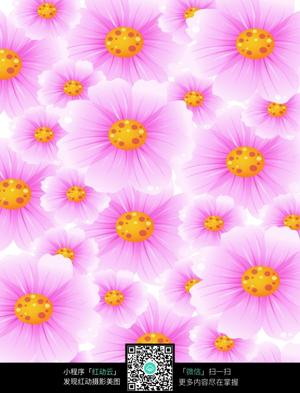 花卉平铺图_移门图案图片
