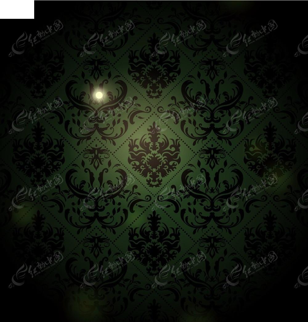 墨绿色底纹