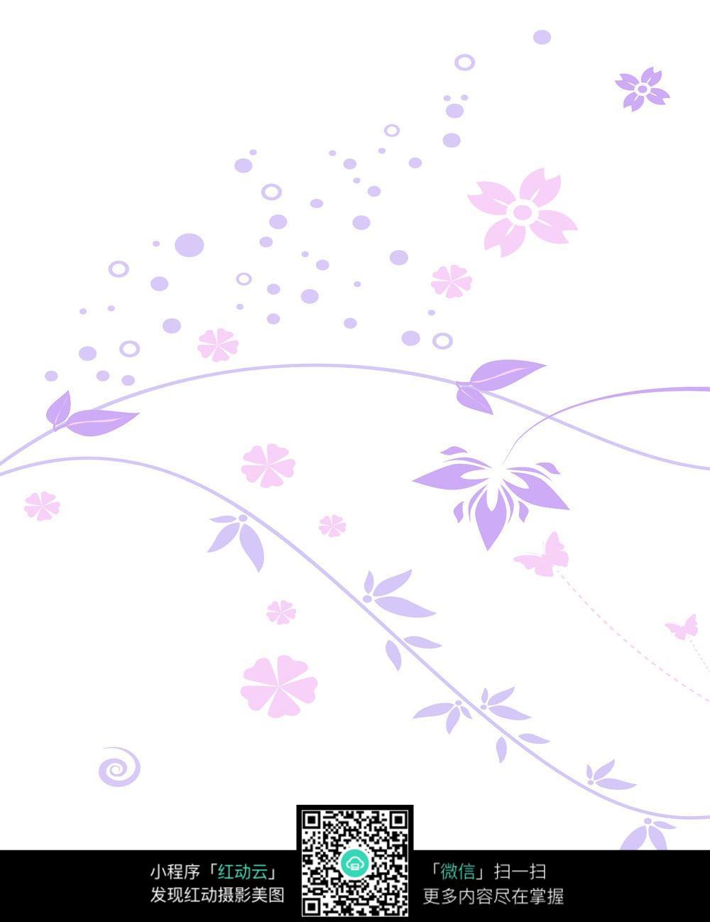 白色柳叶背景图片