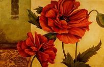 红色牡丹图