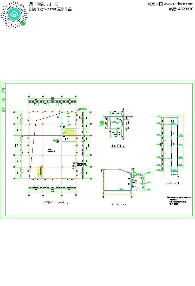 建筑电梯cda施工图