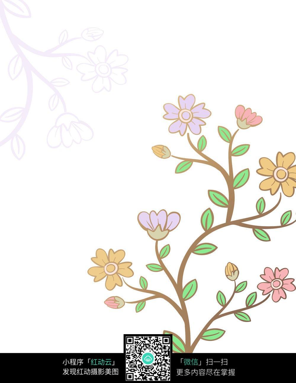 卡通花卉背景图