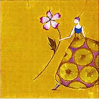 手拿牡丹的女人图