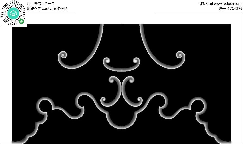 浮雕 浮雕灰度图 浮雕图模板 雕花 灰度图 黑白 精雕图 花朵花纹 云纹