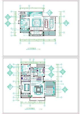 中天花园住宅楼CDA平面布置图