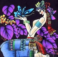 女人与蝴蝶