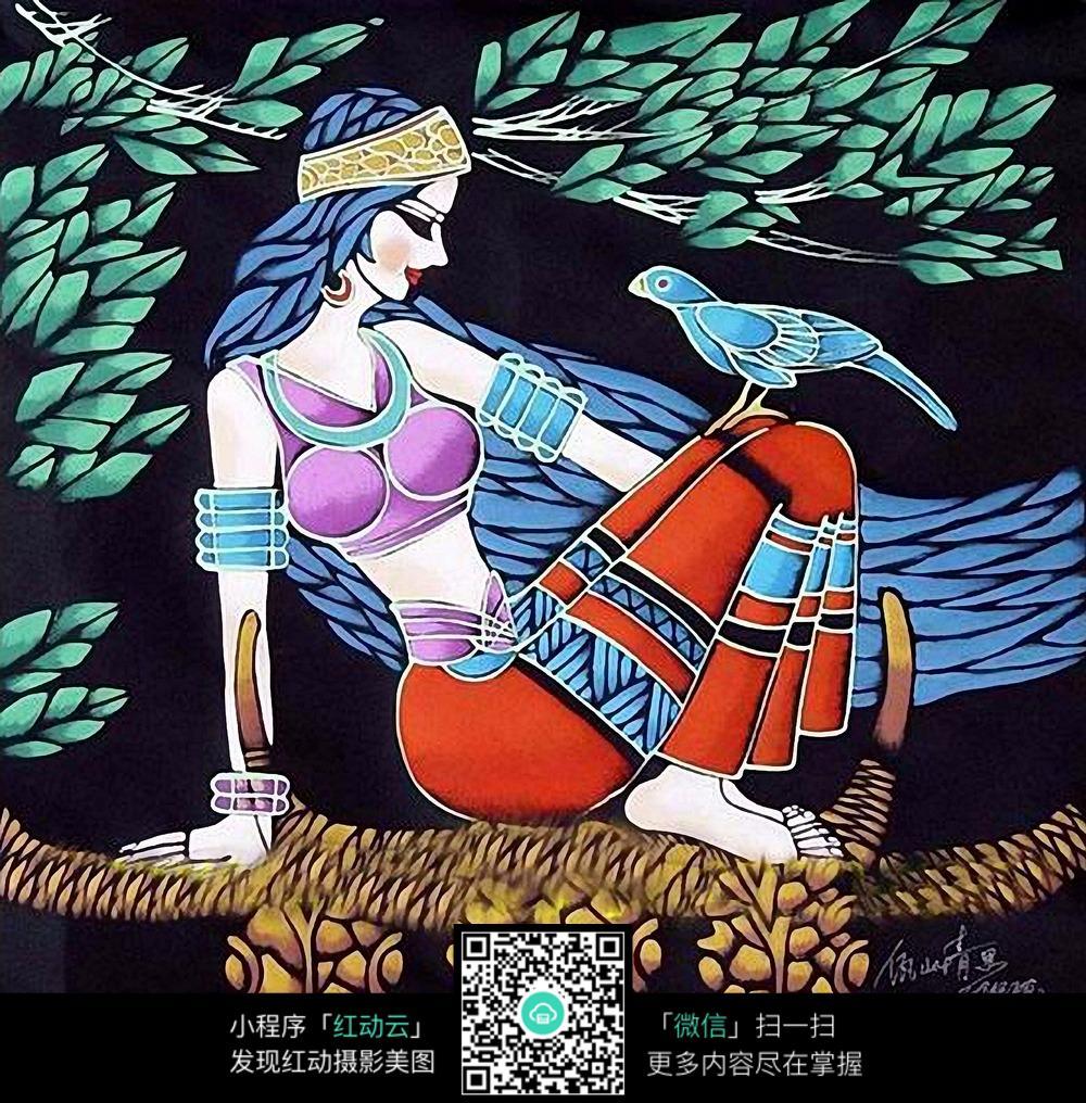 民族风人物平面装饰画