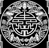 古代中式花纹边框精雕画图片