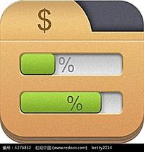 圆角矩形进度条app手机素材