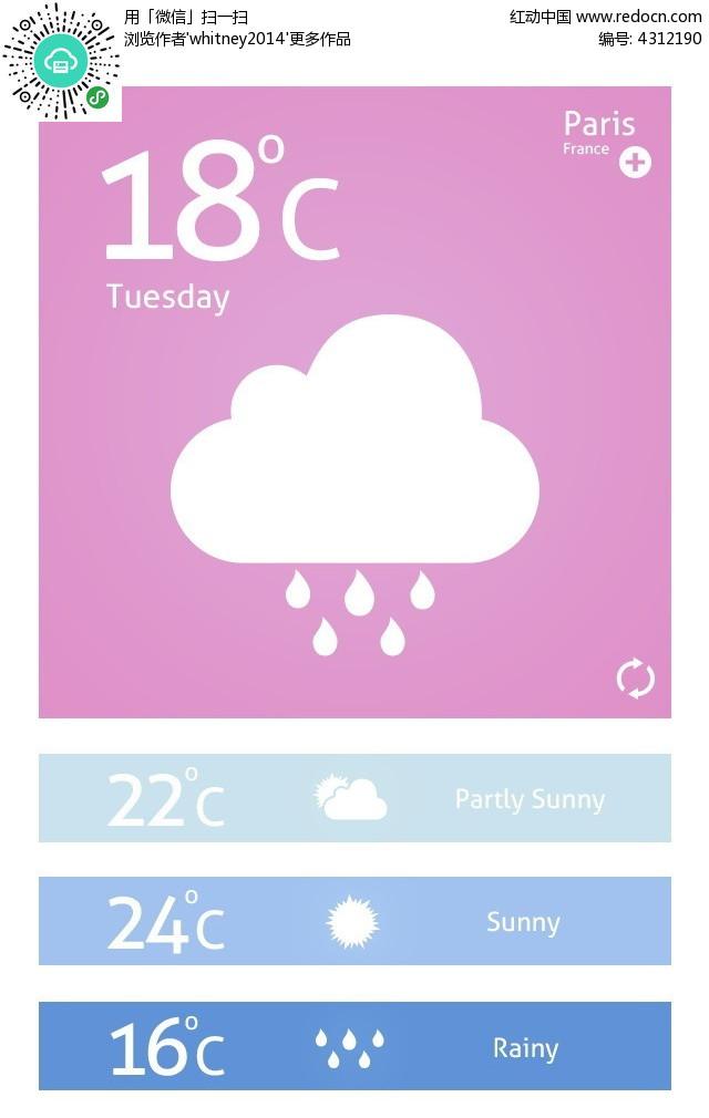 手机app天气页面
