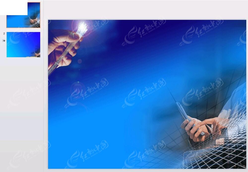 电缆蓝色背景ppt素材免费下载_红动网图片