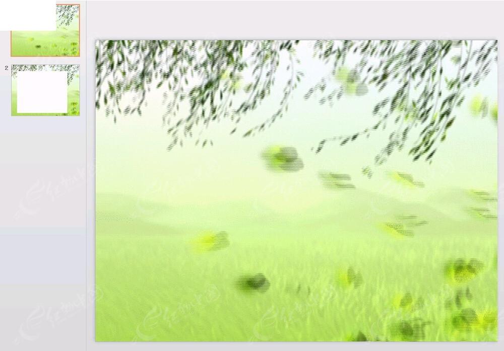 柳树背景ppt素材免费下载_红动网图片