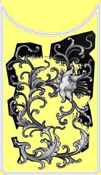 荷花皇帝中式浮雕灰度图图片