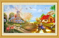 和谐田园风光装饰画