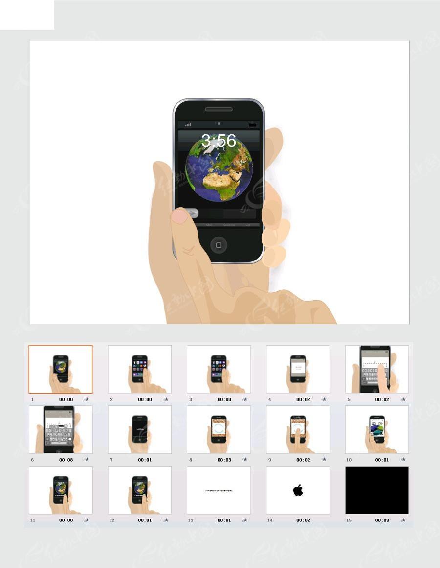 滑屏手机ppt模板免费下载_企业商务素材图片