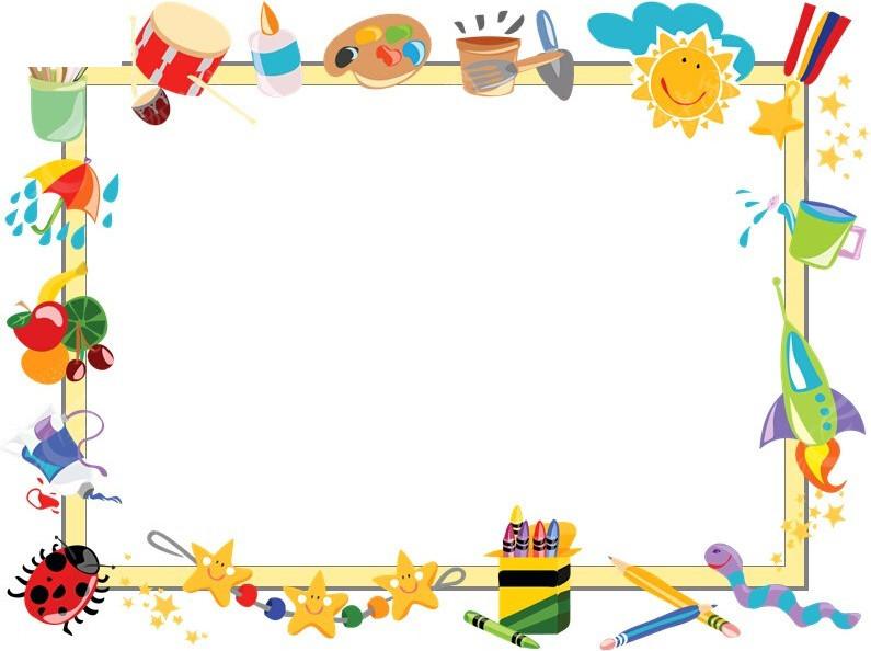 卡通边框ppt模板免费下载
