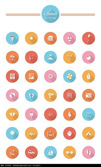 糖果色圆形图标刮刮乐v糖果图片